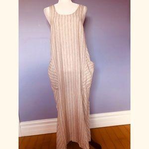 Flax sleeveless linen maxi dress